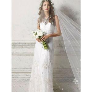 BHLDN Greenhouse Gala Gown Wedding Dress NWT Sz 2